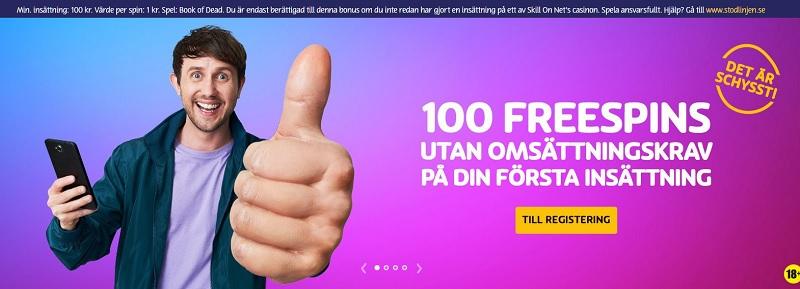 Få 100 free spins utan omsättningskrav hos Play OJO!