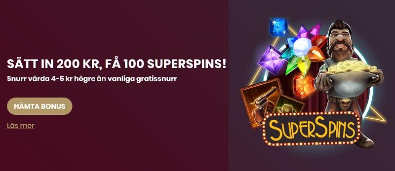 Nya spelare får 100 SuperSpins hos Cherry Casino!
