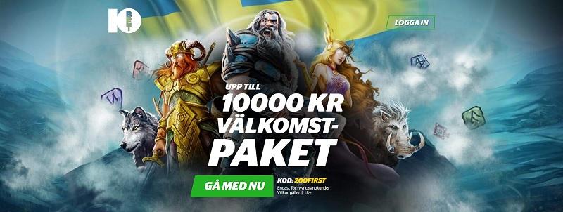 10Bet Casino Bonus ger dig 100% upp till 2000 kr
