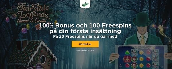 20 free spins exklusivt på Hansel & Gretel från Mr Green