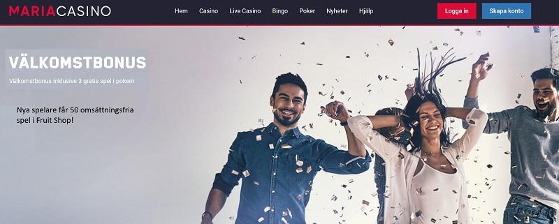 Maria Casino casinobonus är en av de bästa casinobonusarna september 2020