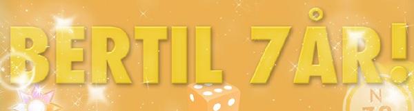 Casino bertil firar 7 år med free spins