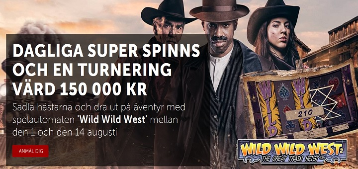 Betsafe casino med 150k turnering och superspins till 14 Aug 2016