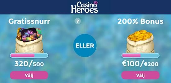 Ny casinobonus hos Casino Heroes