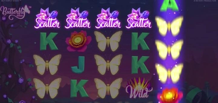 Ny spelautomat från NetEnt – Butterfly Staxx