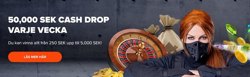 50 000 kr cashdrop hos Ninja Casino varje vecka