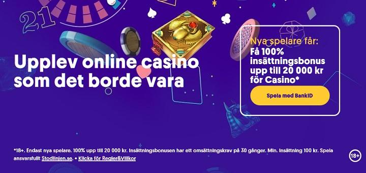 Casinobonusar i juni 2020 från Casumo