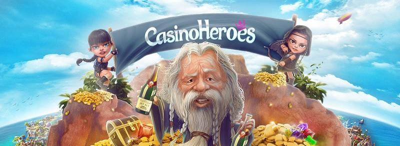 Casino Heroes bonus på 100% upp till 2000 kr
