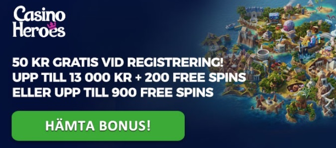free spins hos CasinoHeroes
