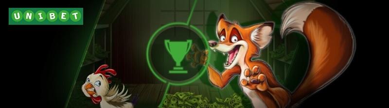 Vinn en del av 200.000 kr på Chicken Fox hos Unibet!