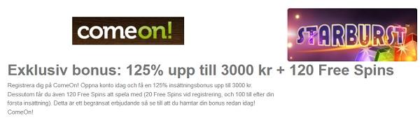 CoemOn Casino Bonus