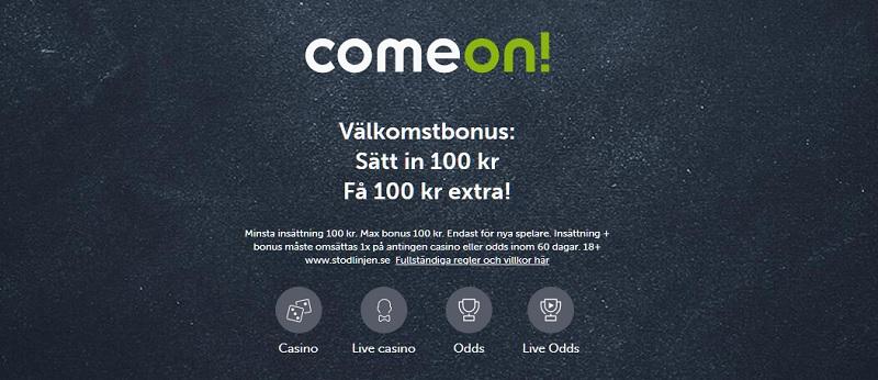 ComeOn casino bonus på 200%