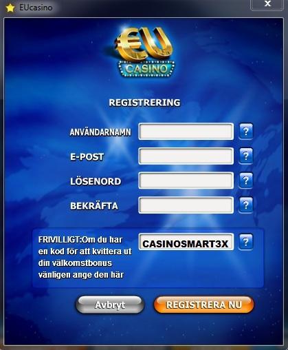 EU Casino Bonuskod