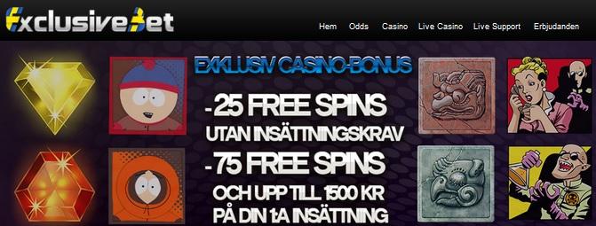 Casino bonus Exclusivebet