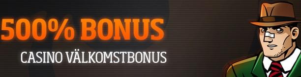 Expekt 500% casino bonus