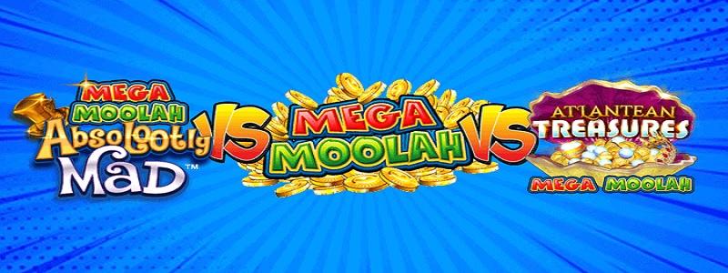 Det finns två nya spel med Mega Moolah - Atlantean Treasures Mega Moolah och Absolootly Mad Mega Moolah