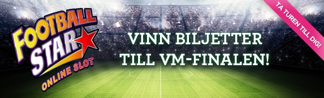 Vinnarum Vinn VM biljetter på Football Star