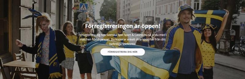 Förregistrera nytt konto hos Svenska Spel