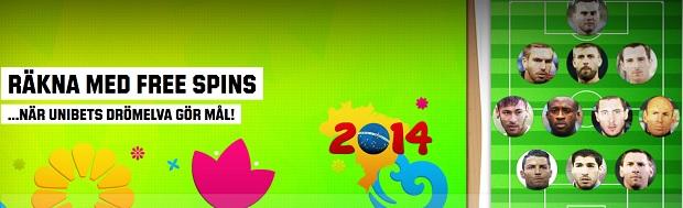 Free spins 13 Juni 2014