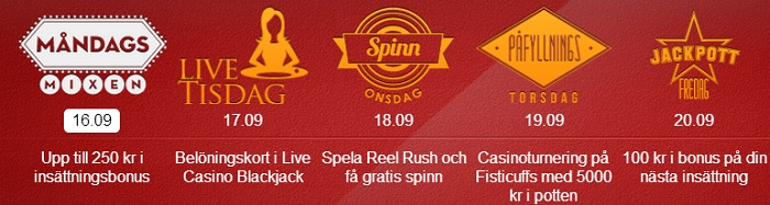 free spins 16 september 2013