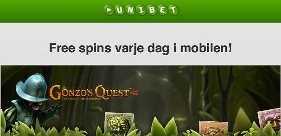 Casino free spins 21 mars 2014