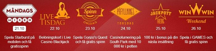 free spins 21 oktober 2013