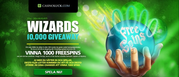 Free spins 23 augusti 2016