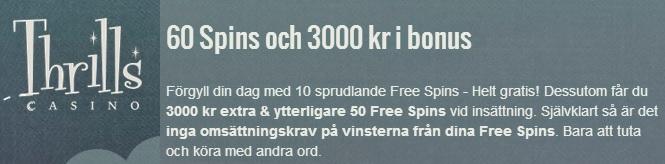 Casino free spins 25 februari 2014 Thrills