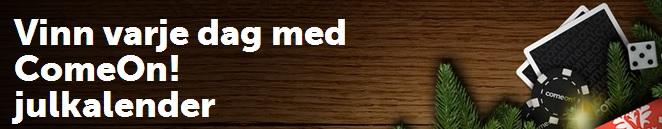 Comeon Julkalender med free spins 2 december 2013