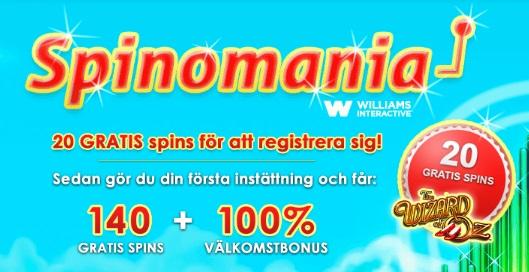 Free spins 4 September 2014