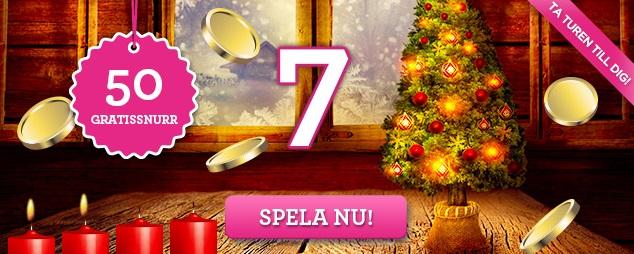 Free spins 7 December 2014
