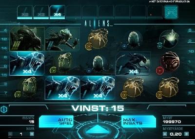Free spins 24 April 2014 - Aliens NetEnt spelautomat