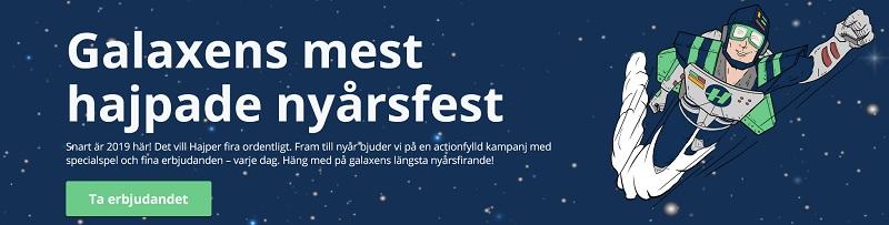 Hajpers julkalender 2018 med nyårsfest
