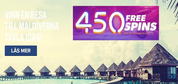 Vinn resa till Maldiverna med Igame och få 450 freespins