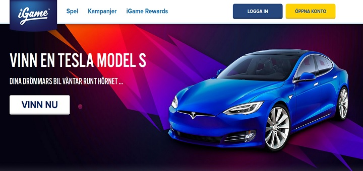 Vinn en Tesla Model S från Igame