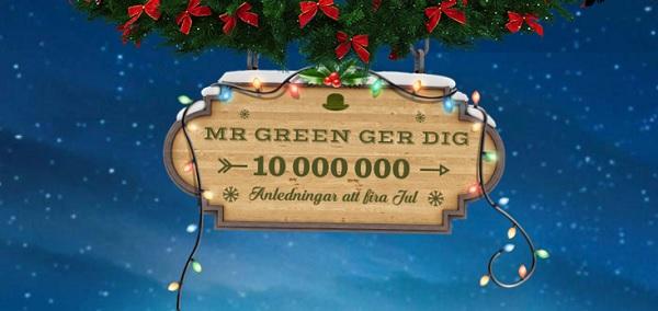 Julkalender free spins 1 december 2017