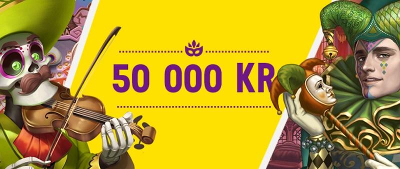 50.000 kr i Karnevalsvinster från Lucky Casino!