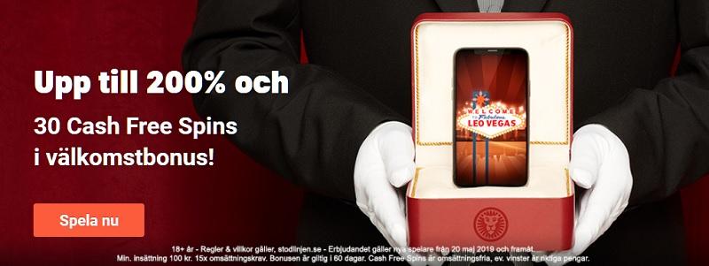LeoVegas Casino Bonus på 50.000 kr och 400 free spins