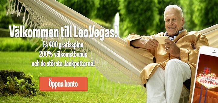 Ny bra casinobonus hos Leo Vegas