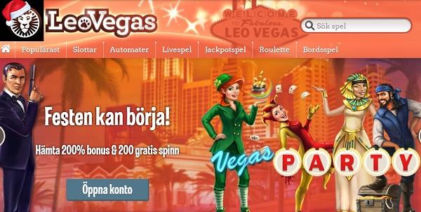 Julmiljonen hos Leo Vegas 2015