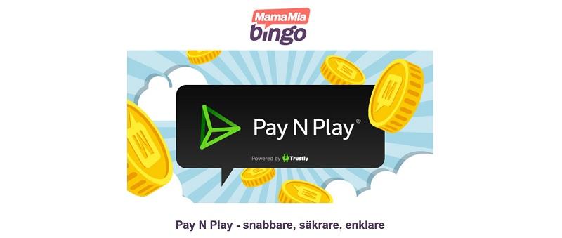 Få 100% bonus hos MamaMia Pay N Play!
