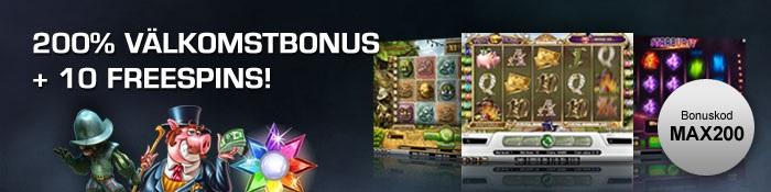 Maxino Bonus och free spins