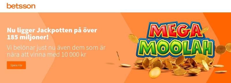 Mega Moolah Jackpott över 185 miljoner!