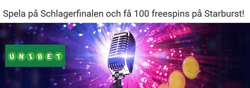 Freespins och odds på Melodifestivalens final 2017