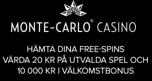 free spins hos Monte Carlo online casino