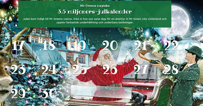Mr Green Julkalender 2016