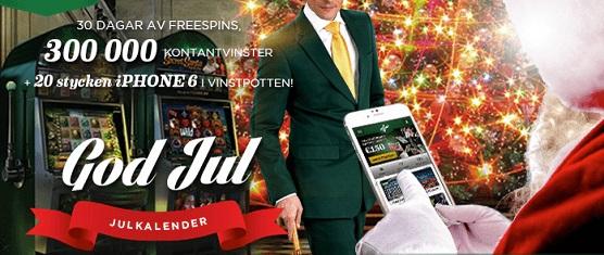 Julkalender Mr Green casino