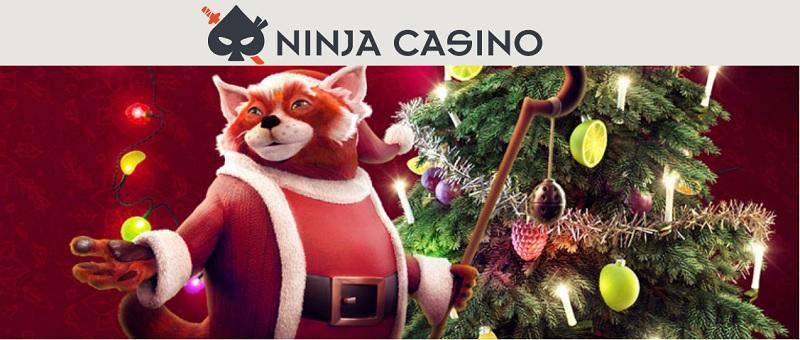 Ninja Casinos julkalender 2018 med julklappsregn