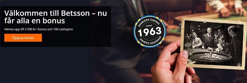 Ny Betsson casinobonus till alla spelare