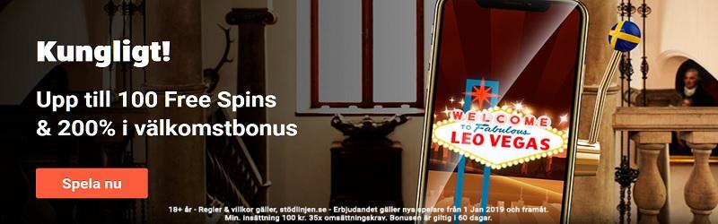 Ny casinobonus hos LeoVegas 2019